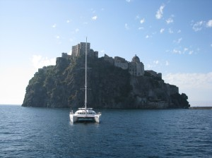 Ischia Castle at day break